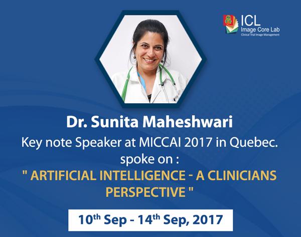 Dr Sunita Maheshwari at MICCAI 2017